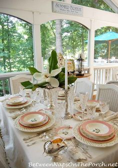 Birthday Party, Mother's Day or Bridal Shower Table Setting Tablescape