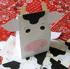 Moo Cow Treat Sacks  Farm Barnyard Country Milk Dairy by jettabees, $15.00
