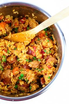 Instant Pot Cajun Rice with Chicken and Sausages momsdinner.net
