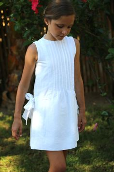 LINEN IVORY DRESS