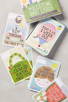 Milestone Baby Cards - anthropologie.com Love these photo props!