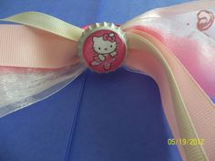 Hello Kitty Ballet Dancer Bottle Cap Ponytails by ang744 on Etsy, $5.00