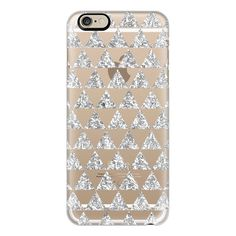 iPhone 6 Plus/6/5/5s/5c Case - Glitter Triangles in Silver - Phone... (40 PAB) ❤ liked on Polyvore