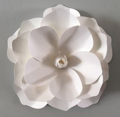 "12"". Extra large 3D Wall Magnolia flower White Magnilia flower"