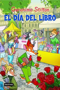 """""""En el aire flotaba un aroma a primavera y yo... (...) Tenía que encontrar la manera de distraerme un poco... ¡Afortunadamente, mi hermana Tea me arrastró a la ciudad de Barcelona para conocer la superratónica fiesta de los libros y la rosa!"""". """"Soy un tipo un poco distraído (...) dirijo un periódico, pero mi verdadera pasión es escribir"""". Edad recomendada: 7 a 9 años."""
