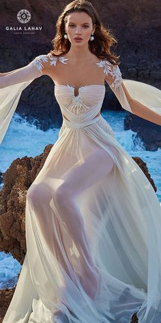 Ready for some impossibly beautiful bridal gowns? GALA by Galia Lahav Wedding Dress Collection has it all. This is one stunning bridal collection that's guaranteed to take your breath away! Bridal Dresses, Wedding Gowns, Prom Dresses, Bridesmaid Dresses, Chiffon Dresses, Chiffon Gown, Fall Dresses, Long Dresses, Formal Dresses