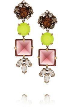 J.CREW Pablo Crystal Drop Earrings