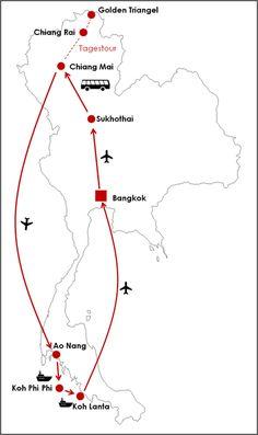 Reiseroute Thailand 2 Wochen (Rundreise) Source by opjueck_un_zuhuss Visit Thailand, Thailand Travel, Asia Travel, Thailand Honeymoon, Food Travel, Backpacking India, Backpacking South America, Bangkok, Thailand Destinations