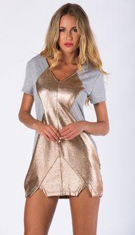 ALLAVANTE SHIFT DRESS IN GREY