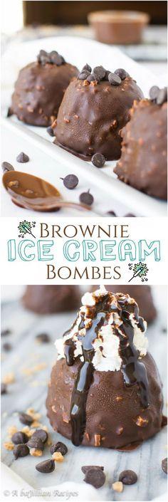 Brownie Ice Cream Bombs   A baJillian Recipes