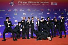 Wanna One on Red Carpet with B-boy Daniel Ha Sungwoon, You Are My World, Mnet Asian Music Awards, My Big Love, Kim Jaehwan, Happy Reading, 1st Anniversary, My Destiny, Together Forever