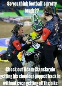 For the sweet love of MOTOCROSS! Our ultimate list of motocross quotes are dirty, funny, serious and always true. Check out our favorite motocross sayings Dirtbike Memes, Motocross Funny, Motocross Quotes, Dirt Bike Quotes, Motocross Love, Motorcycle Memes, Motocross Girls, Motorcross Bike, Biker Quotes