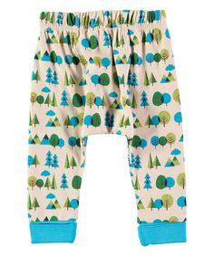 Another great find on #zulily! Blue & Green Forest Print Leggings - Infant #zulilyfinds