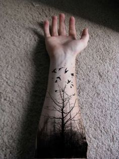Tree Tattoos On Hand | Best Tattoo Art Design