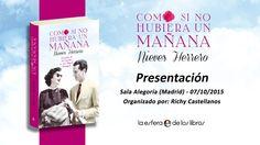 ¡Ya tenemos el vídeo de la presentación en Madrid de la novela Como si no hubiera un mañana de Nieves Herrero!. Al lado de la periodista y escritora han estado amigos de la cultura y del espectáculo como podréis comprobar.