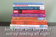 10 books that will keep your son up reading all night // Love these!