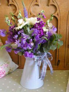 Seasonal enamel Jug  H. Watts Florist, Devon