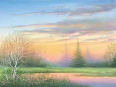 . Sunset Canvas, Winter Painting, Hand Painted Walls, Beautiful Paintings, Pretty Pictures, Canvas Wall Art, Art Projects, Floral, Art Photography