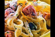 Těstoviny s tuňákem a majonézou