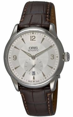 Oris Men's 623 7582 4071LS Artelier Small Second Date Watch Oris. $1295.00. Date feature. Skeleton back with mineral glass. Anti-reflective sapphire crystal. Luminous indices and luminous hands with superluminova. Water-resistant to 99 feet (30 M)
