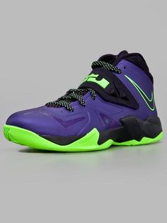 Nike Zoom Soldier VII Court Purple Blue Print Flash Lime