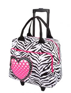 Justice Cheetah Hardshell Roller Suitcase | Little Girls ...