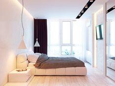 lampy w sypialni przy łóżku http://www.homeadore.com/2014/08/06/kiev-apartment-kattgorprikhodko/