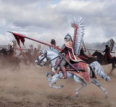 Medieval, Polish Tattoos, Art Of Fighting, Horse Facts, Chivalry, Knights Templar, Military History, Renaissance, Wings