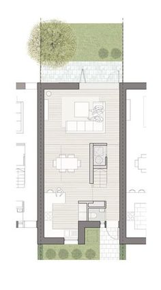 Taylor Wimpey Project 2020 Design Competition - floorplans and concepts - Wettbewerb Minimalist House Design, Small House Design, Minimalist Home, Narrow House Designs, Architecture Portfolio, Architecture Plan, Architecture Details, Narrow House Plans, House Floor Plans