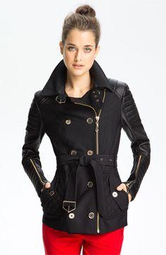 My new coat! Love!!!  Sam Edelman Mixed Media Trench Coat available at #Nordstrom