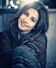 Vidya Balan has broken the stereotypical notion of how a conventional Bollywood heroine should look like, by coming across as a more authentic and substantial actor rather than a pretty-as-a-picture heroine with a zero size figure. Bollywood Girls, Bollywood Stars, Bollywood Couples, Indian Celebrities, Bollywood Celebrities, Beautiful Indian Actress, Beautiful Actresses, Beautiful Women, Simply Beautiful