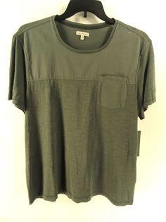 CALVIN KLEIN NEW MENS GREEN SHORT SLEEVE CREWNECK BASIC T-SHIRT XL #CalvinKlein #BasicTee