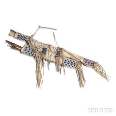 2a20f1ba6d1 Lakota Beaded Hide Bow Case and Quiver