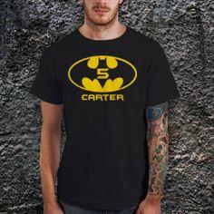 Batman Logo carter T Shirt for Men Cotton Men T by CoffeenTeeShirt, $16.99