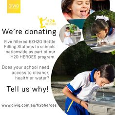 We will be donating Five filtered drinking water fountains for schools nationwide as part of our Heroes program. Drinking Fountain, Drinking Water, Healthy Water, Filling Station, Schools, Sustainability, Competition, December, Campaign