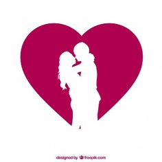 couple-silhouette-with-heart_23-2147503661.jpg (338×338)