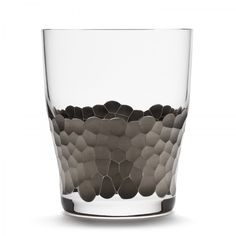 hand painted platinum: Platinum Paillette Double Old Fashioned by Kim Seybert