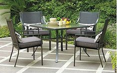 online shopping for Mainstays Alexandra Square Patio Dining Set, Grey Leaves, Seats 4 from top store. See new offer for Mainstays Alexandra Square Patio Dining Set, Grey Leaves, Seats 4 Patio Diy, Patio Table, Patio Dining, Dining Table, Dining Sets, Garden Table, Garden Chairs, Dining Chairs, Outdoor Dining Set