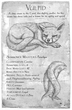 This gallery is a compilation of the images of Demons that appear in the Summoner Series. Mythical Creatures Art, Mythological Creatures, Magical Creatures, Mythological Monsters, Myths & Monsters, Monster Book Of Monsters, Creature Drawings, Wolf Drawings, Fantasy Beasts