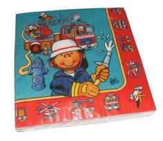 Servietten Feuerwehrmann - Partyzubehör Feuerwehrgeburtstag http://www.firlefantastisch.de/epages/15496426.sf/de_DE/?ObjectPath=/Shops/15496426/Products/31440