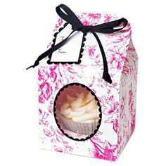 Set 4 cajas cupcakes flores