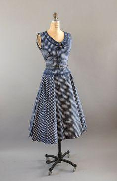 1950s Dress / County Fair Dress Bolero / by wildfellhallvintage