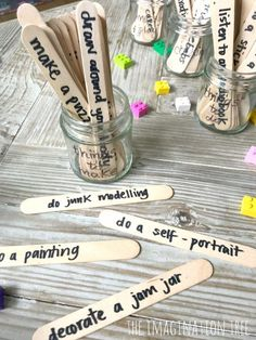 Activity Jars for Busy Kids - The Imagination Tree Toddler Crafts, Crafts For Kids, Junk Modelling, Imagination Tree, Summer Reading Program, Jam Jar, Baby Games, Lessons For Kids, Business For Kids