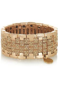 Philippe Audibert  Kre gold-plated crystal cuff  $520