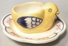 NEW Chick Shaped Egg Cup Fleuri, HB Henriot Quimper New | eBay