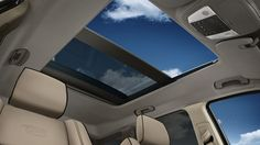 Jeep® Grand Cherokee Overland with standard dual paned, CommandView® sunroof.