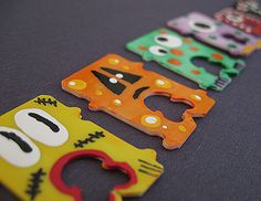 Recycled Bread Tag Monsters