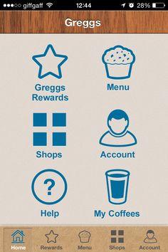 Greggs app homepage