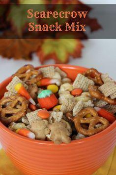 Halloween Snack Mix :: Scarecrow Snack Mix