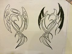 Angel & Devil Tattoo Concept #2 - By Mark DiCarlo